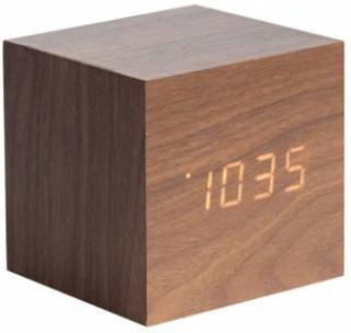 Vækkeur - Karlsson Mini Cube Dark Wood Veneer