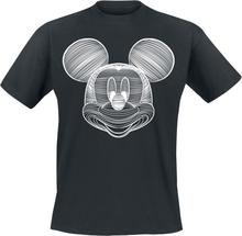 Mickey Mouse - Line Art -T-skjorte - svart