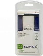 Sinox iMedia PowerBank på 5200 mAh i hvid