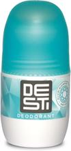 Desti Turquoise label