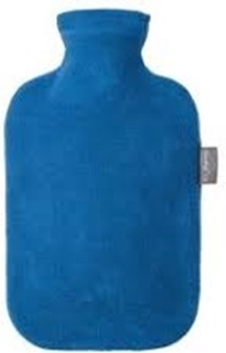 Fashy varmeflaske fleece s-blå