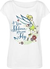 Peter Pan - Tinker Bell - If You Believe -T-skjorte - hvit