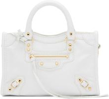Balenciaga White Nano City Bag