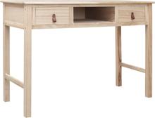 vidaXL Skrivbord natur 110x45x76 cm trä
