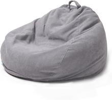 Lazy Sofas Cover Stühle Leinen Stoff Liege Sitz Sitzsack Pouf Puff Couch Tatami Wohnzimmer
