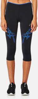 Asics Women's Asics Stripe Knee Tights - Performance Black/Blue Purple - XS - Black