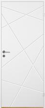 Innerdörr Bornholm - Kompakt dörrblad med fräst zickzack-dekor A11 Vit (standard) (NCS S 0502-Y)