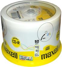 Maxell CD-R 52x 80min InkJetPrint 50