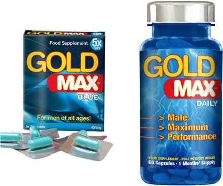 Erektionshjälp Paket 8-GoldMax Blue + GoldMax Daily-spara 18%
