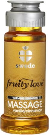 Swede - Fruity Love Värmande Massageolja Vanilla/Cinnamon 50 ml