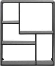 Kiro sort bogreol væghængt 3 hylder (Leveres fra uge 24, 2020)