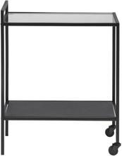 Kiro sort rullebord med hylde
