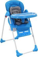 vidaXL Barnstol blå och grå