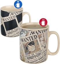 One Piece - Wanted - Krus som endres med varme -Kopp - flerfarget