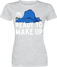 Sesam Stasjon - Krümelmonster - Me No Ready To Wake Up -T-skjorte - gråmelert