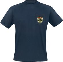 Resident Evil - Racoon Police Department - Pocket -T-skjorte - blå