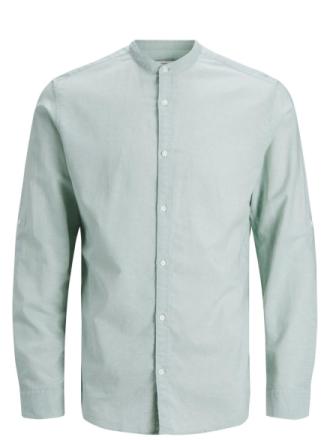 JACK & JONES Classic Long Sleeved Shirt Men Blue