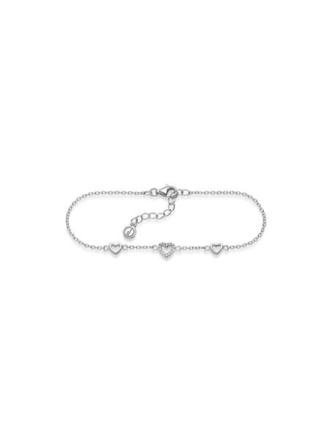 GD GULLDIA CLASSIC sølv armbånd med hjerte og zirkonia