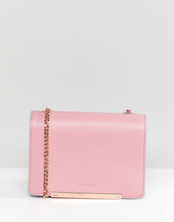 Ted Baker Rainbow Concertina Bag in Leather - Pink
