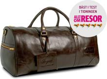 Weekendväska i läder XL - Mörk brun