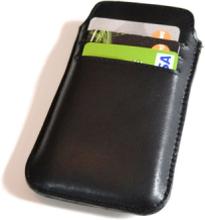Mobilfodral med kortfack (iPhone 5) - Svart