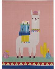 Lama De Luxe gulvtæppe til børn 95x125