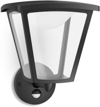 Cottage Wall Lantern Black 1x4W