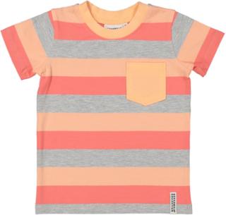 Geggamoja Randig T-shirt Peach