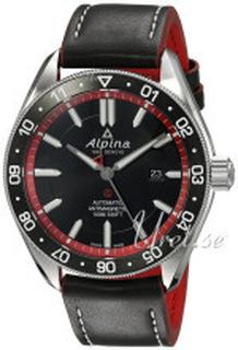 Alpina AL-525BR5AQ6 Alpiner Svart/Läder Ø44 mm