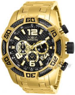 Invicta 25853 Pro Diver Sort/Gul guldtonet stål Ø50 mm