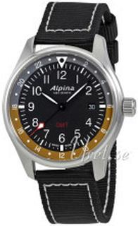 Alpina AL-247BBG4S6 Startimer Sort/Tekstil Ø42 mm