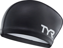 TYR Silicone Comfort Long Hair Swimming Cap black 2019 Badehetter