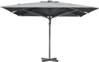 Paris parasoll Antracit/grå 4 X 4 m