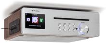 Silverstar Chef köksradio max 20W CD BT USB internet/DAB+/FM silver