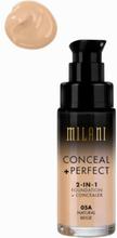 Milani Conceal & Perfect Liquid Foundation Natural Beige