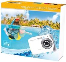 Easypix Aquapix W1024 Splash - Digitalkamera - kompakt - 10.0 MP / 16.0 MP (interpolert) - under vannet inntil 3 m - hvit