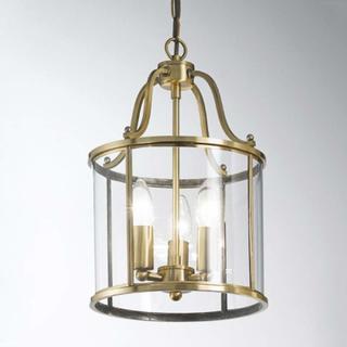 Rund lanterneform - hengelampe Rieka, 25 cm