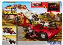 Hot Wheels Monster Trucks Mega Naczepa Zestaw Kaskaderski 2 w 1 (GFR15)