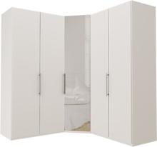 Garderob Atlanta - Vit 100 + hörn + 100, 216 cm, Vit