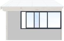 Skjutbara fönster Vår/höst - Isolent Antracitgrå, 220 cm - 3 luckor, Original Design