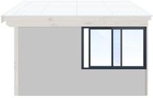 Skjutbara fönster Vår/höst - Isolent Antracitgrå, 150 cm - 2 luckor, Original Design