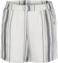 JUNAROSE Striped Shorts Women White