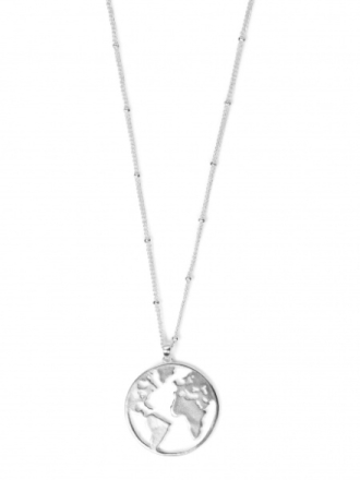 Earth necklace silverplated