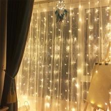 LED verho 3 x 3 metriä - lämmin valkoinen