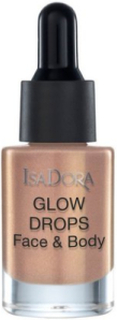 Isadora Glow Drops Face & Body Highlighter Golden