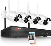 ANRAN Övervakningssystem trådlösa IP-kameror, Wi-fi NVR-kit 960P HD