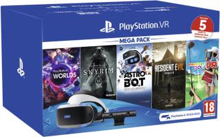 Playstation VR Mega Pack 2 + 5 st spel (inkl. Kamera)
