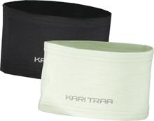 Kari Traa Nora Headband 2p Maastohiihtovaatteet BLACK/MINTY
