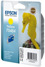 Epson T0484 - 13 ml - gul - original - blister - blekkpatron - for Stylus DX3800; Stylus Photo R200, R220, R300, R320, R340, RX500, RX600, RX620, RX6