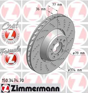 Bromsskiva ZIMMERMANN 150.3474.70